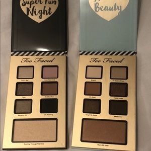 Too Faced Makeup bag and 2 palettes